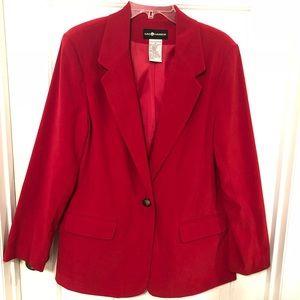 Sag Harbor red blazer size 12.